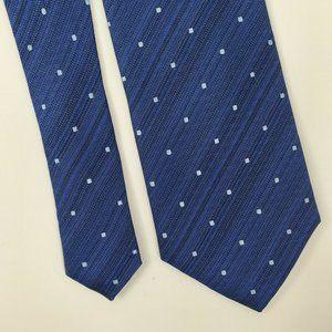 Kenneth Cole Reaction Blue Geometric Silk Tie